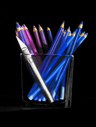 Purple Pencils with X-Acto