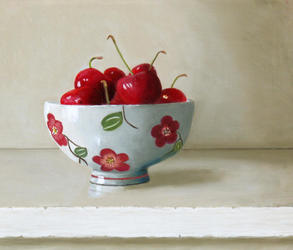 Cherries in a Chinese Bowl